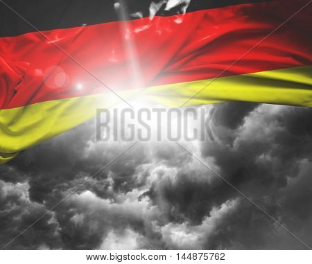 Germany flag on a bad day