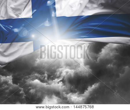 Finland flag on a bad day