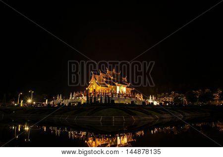 Royal Pavilion or Ho Kham Luang in thai name,Chiang Mai at North of Thailand.