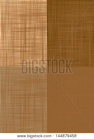 Sacking. Set brown vector backgrounds imitating fabric.