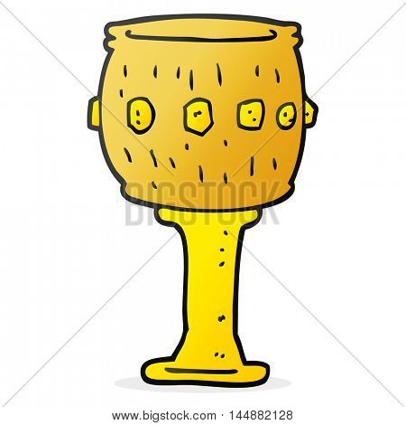 freehand drawn cartoon goblet