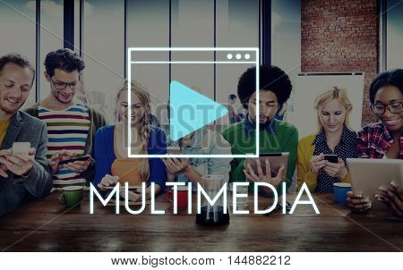 Multimedia Communication Technology Network Concept