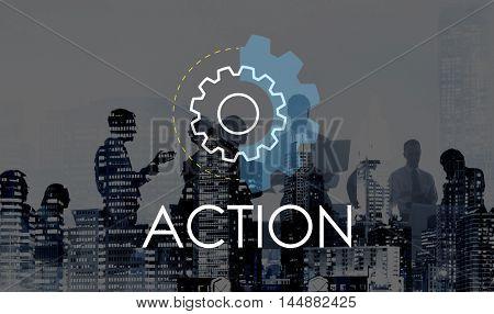 Action Business Analysis Development Concept