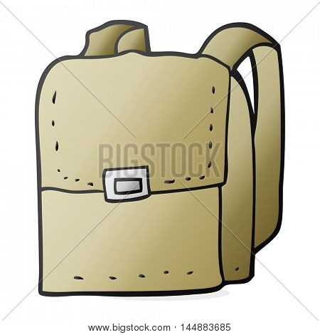 freehand drawn cartoon bag