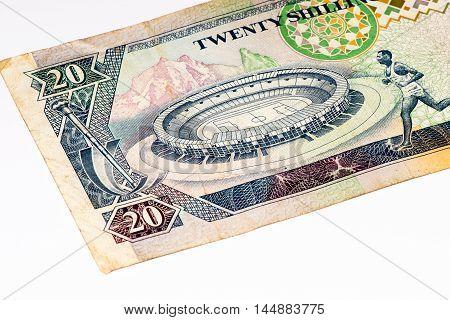 10 Kenyan shillings bank note of Kenya. Kenyan shilling is the national currency of Kenya
