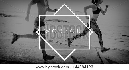 poster of Work Out Activity Fitness Fit Wellness Exercise Concept