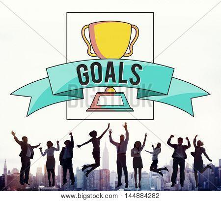 Business People Achievement Success Jumping Celebration Concept