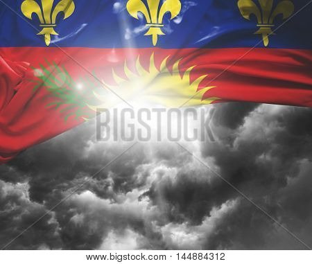 Guadeloupe flag on a bad day
