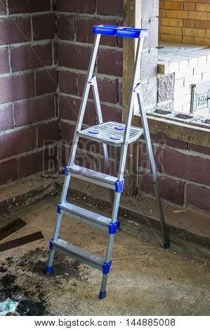 The Construction Step-ladder Indoors
