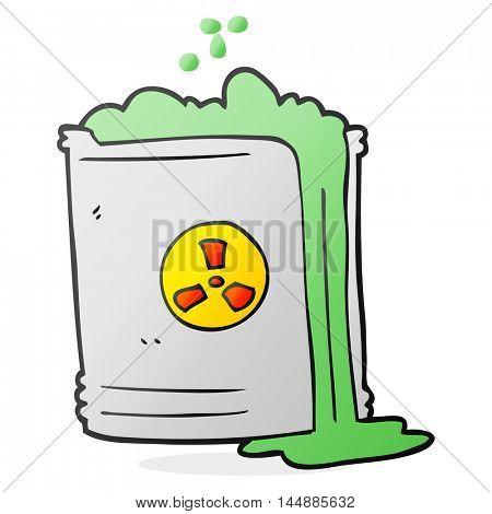 freehand drawn cartoon radioactive waste