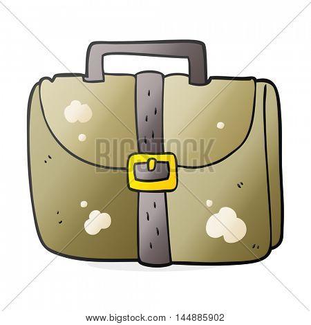 freehand drawn cartoon old work bag