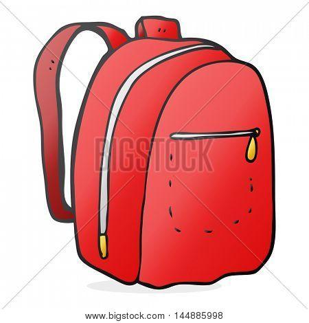 freehand drawn cartoon rucksack