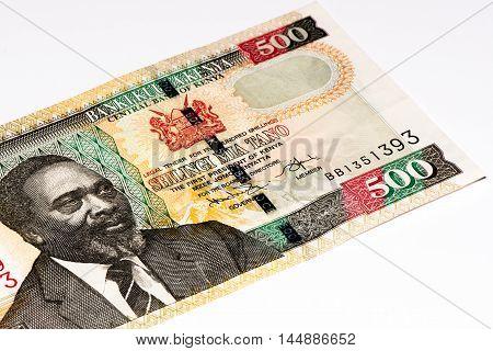 500 Kenyan shillings bank note of Kenya. Kenyan shilling is the national currency of Kenya