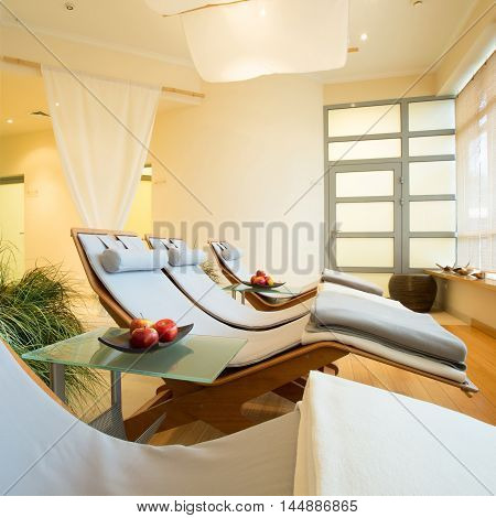 New luxury beauty resort with bright restful room