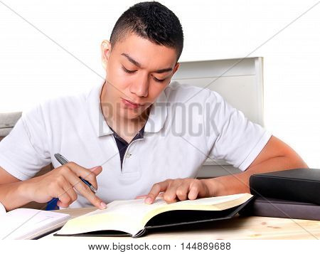 studying, desk, book, reading, home, academic, young, exam,