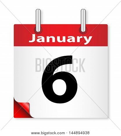 A calender date offering the 6th January