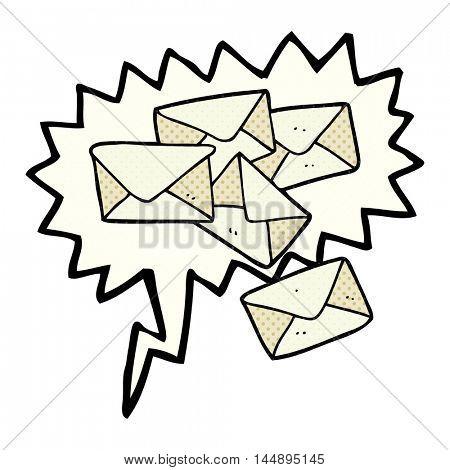 freehand drawn comic book speech bubble cartoon letters
