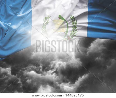 Guatemala flag on a bad day