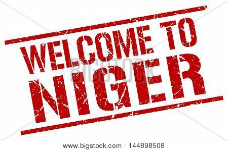welcome to Niger. stamp. grunge square sign