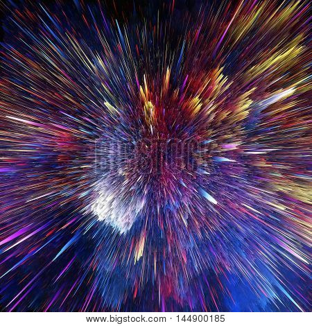 The colorful galaxy clouds and big bang abstract star texture