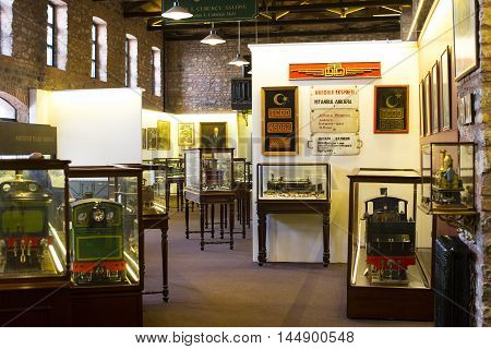 ISTANBUL, TURKEY - 5  JUNE , 2016: Industrial Museum Rahmi Koc Istanbul presents a collection of achievements of the world industry