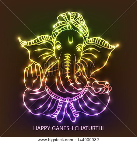 Creative Ganesh background for festival of ganesh chaturthi celebration.