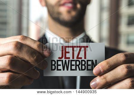 Apply Now (in German)