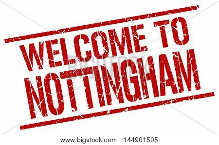 welcome to Nottingham. stamp. grunge square sign