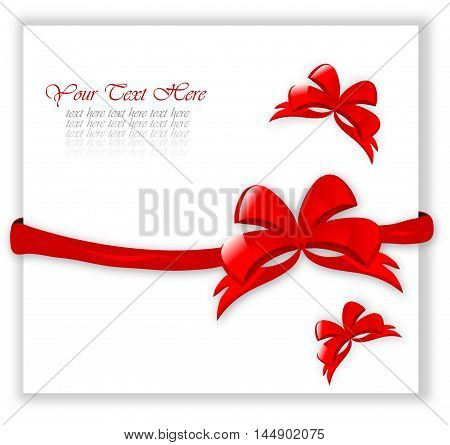 Certificate With Red Bows
