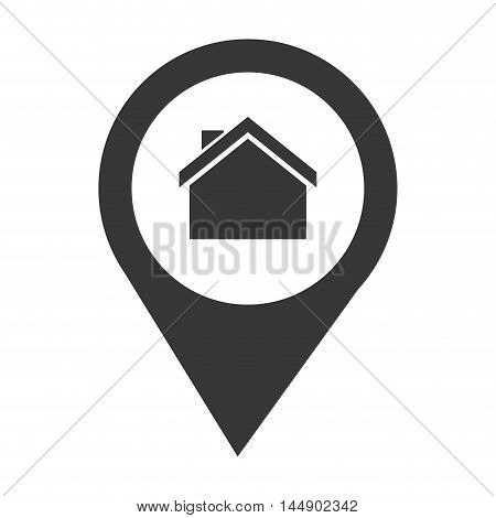pin location house place real state business vector illustration