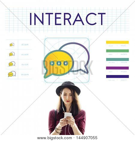 Interact Trends Connection Discussion Concept