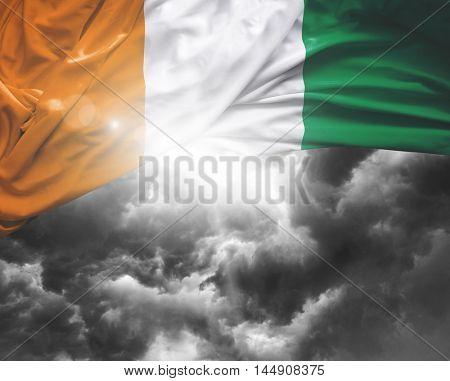 Ireland flag on a bad day