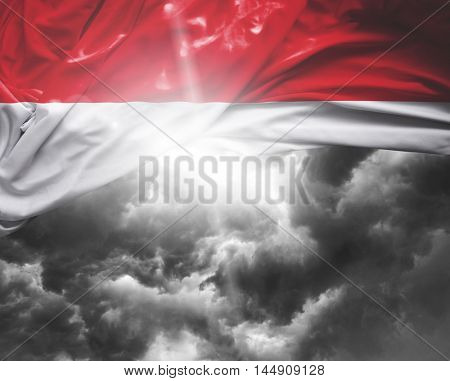 Indonesia flag on a bad day