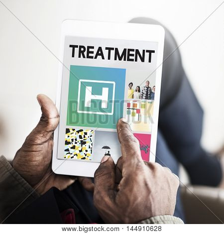 Hospital Healthcare Treatment Browsing Concept