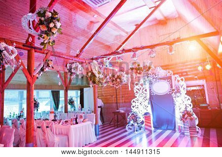 Decoration Of Flowers On Wedding Party, Floral Decoration