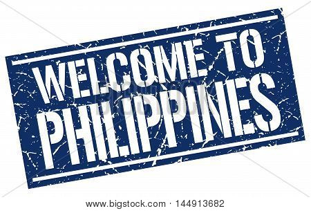 welcome to Philippines. stamp. grunge square sign