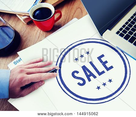 Sale Commerce Promotion Discounting Graphic Concept