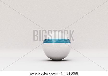 3d illustration of a white sphere isolated on white background