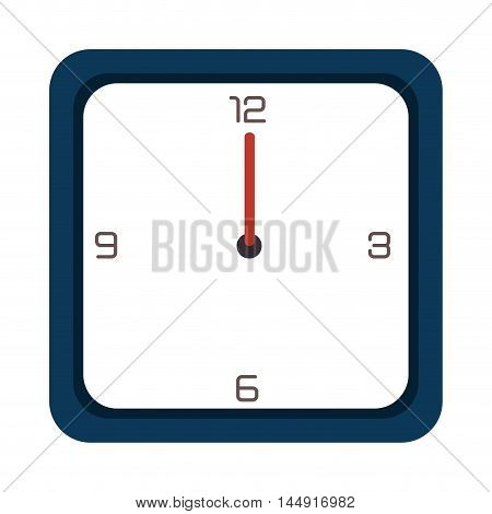 clock watch time technology classic object retro vector illustration