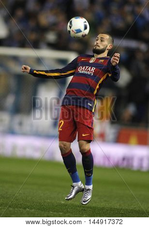 BARCELONA, SPAIN - JAN, 13: Aleix Vidal of FC Barcelona during a Spanish Kings Cup match against RCD Espanyol at the Power8 stadium on January 13, 2016 in Barcelona, Spain