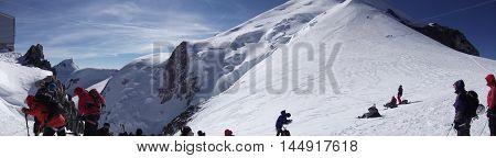 Mont Blanc Alps Ski Fresh Frozen Panoramic View
