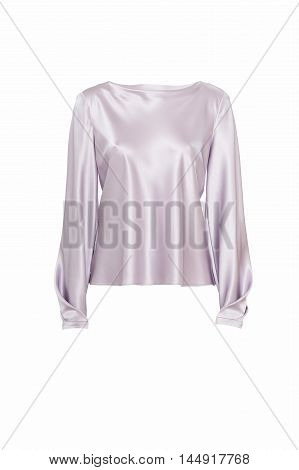 Women's purple shirt isolated on white studio shot