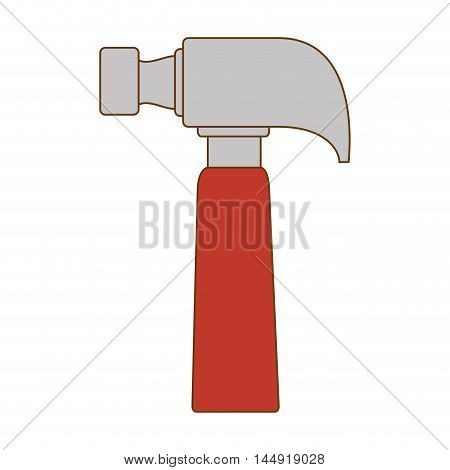 hammer repair and fix construction tools equipment vector illustration