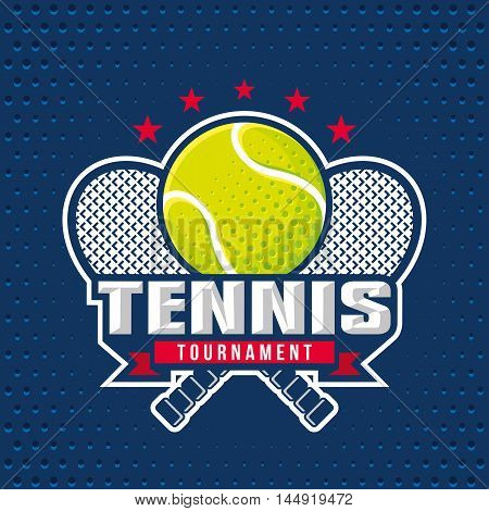 Tennis logo design template emblem tournament template editable for your design.