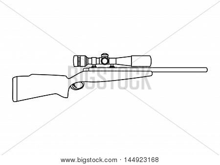 rifle firearm weapon hunting handgun pistol gun  shot vector illustration