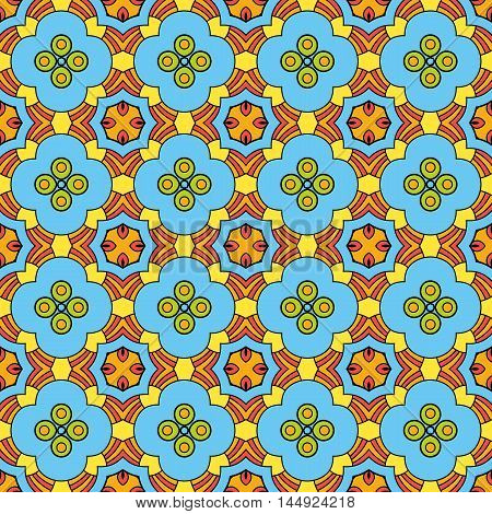 Summer colored seamless pattern, small flowers. Vector background