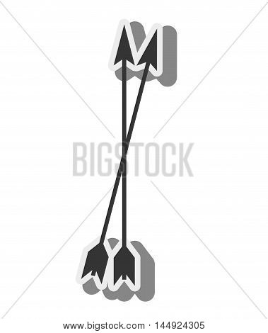 arrow medieval ammunition archer antique weapon silhouette vector illustration