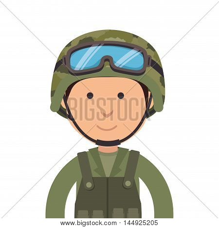 army soldier military cartoon man camouflage uniform vector illustration