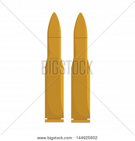 bullet ammunition firearm gun weapon shooting protection vector illustration