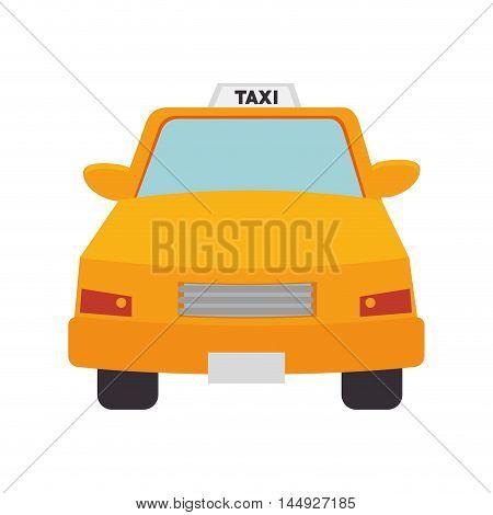taxi cab car vehicle transport public service vector illustration